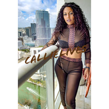 Load image into Gallery viewer, Xena Grecian: Black Brown Greek Sheer Pants Set (PLUS) - callielives
