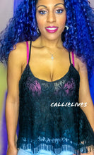 Load image into Gallery viewer, Callie Black Criss Cross Strappy Camisole Lace Top - callielives
