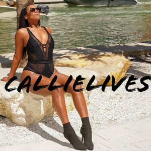 Elaine Curves Tied Lace: Mesh One Piece Swimsuit (PLUS) - callielives