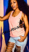 Load image into Gallery viewer, Callie Side Chain: Loose Pink Silver Tank Top, Tops, CallieLives