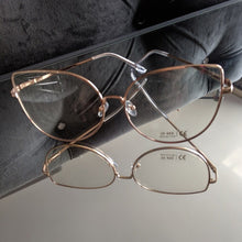 Load image into Gallery viewer, Oversized Rose Gold Clear Glasses - callielives