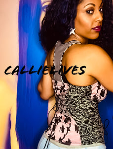 Callie Mixed Up: Urban Camouflage Print Bustier
