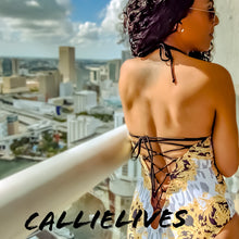 Load image into Gallery viewer, Callie Le Fleur: Print Strappy One Piece Swimsuit - callielives