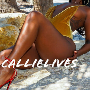 Callie Golden Velvet: Mustard Deep Plunge Swimsuit - callielives