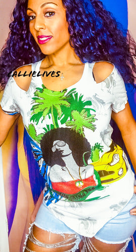 Miz Afro Punk: Rasta Chic White Green Red Bling - callielives