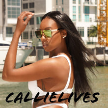 Load image into Gallery viewer, Callie Dope: Futuristic Mesh White CutOut Monokini - callielives