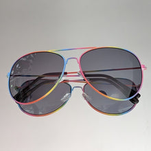 Load image into Gallery viewer, Rainbow Aviators Frame and Black Clear Lens