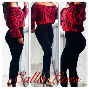 Elaine the Wild: Zebra Print Boatneck Work Blouse