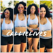 Load image into Gallery viewer, Miz LOVE YOGA Set SPORTS BRA SHORTS - callielives