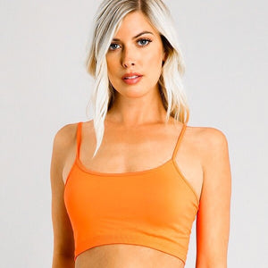 Callie Seamless Sports Bra Cami Crop Bandeau Top