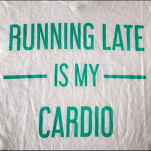 Load image into Gallery viewer, Callie Running Late Cardio Plus Size VNeck Tee