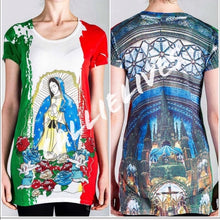 Load image into Gallery viewer, Callie Praying Virgin: Guadalupe de Mexico, Tops, CallieLives