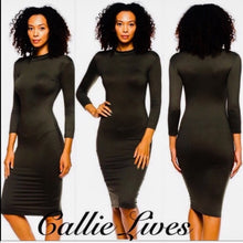 Load image into Gallery viewer, Elaine Mock Me: Midi Bodycon Work Dress - callielives