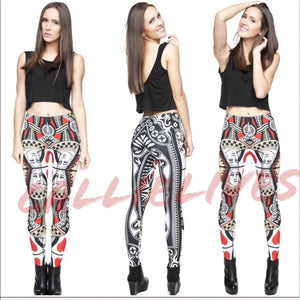 Xena Queen of Hearts: Reflective Illusion Leggings - callielives