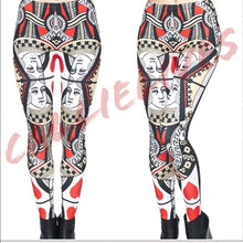 Load image into Gallery viewer, Xena Queen of Hearts: Reflective Illusion Leggings - callielives
