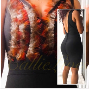 Callie Holiday Feathers: Wow Couture Bandage Dress - callielives