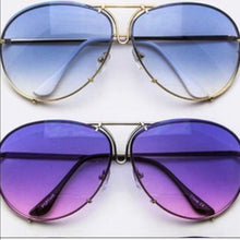 Load image into Gallery viewer, Gold OVERSIZED Aviators Blue Ombré CALLIELIVES - callielives
