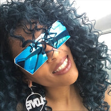Load image into Gallery viewer, Xena OnMy SQUARE: OVERSIZED AQUA BLUE Sunglasses