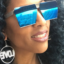 Load image into Gallery viewer, Xena OnMy SQUARE: OVERSIZED AQUA BLUE Sunglasses - callielives