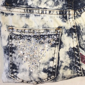Stasia British Jean Bling: Denim Rhinestone Clutch