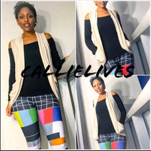 Load image into Gallery viewer, Elaine Ivory Fall Cardigan Vest Light Work Sweater