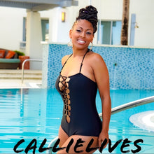 Load image into Gallery viewer, Elaine Unlaced: One Piece Laced Rings Swimsuit XL - callielives