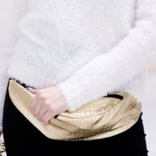 Load image into Gallery viewer, GOLD CROCODILE EMBELLISHED Faux Leather Fanny Pack