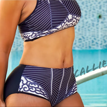 Load image into Gallery viewer, Xena Lineage: Linear Contour High Waist Bikini LG - callielives