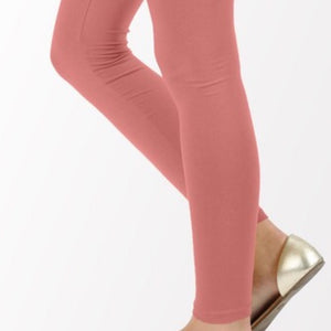 Callie Blushing Pink: COTTON FULL LENGTH LEGGINGS