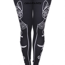 Load image into Gallery viewer, Xena Egyptian Cat: Silky Symbol Graphic leggings - callielives