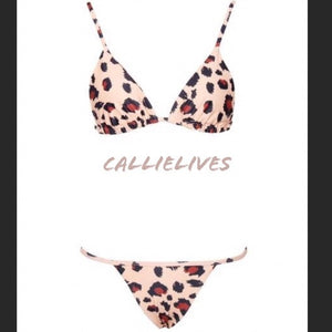 Stasia CheetahKini: Animal Print Triangle Bikini - callielives