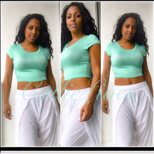 Load image into Gallery viewer, Stasia Mint To Be: Green Crop Top T-shirt Top - callielives