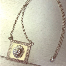 Load image into Gallery viewer, Xena White Lion: Head Leo Pendant Silver Necklace