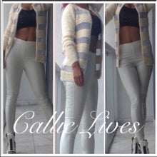 Load image into Gallery viewer, Elaine Off at 5: Furry Silver Mesh Sweater Blazer, Jackets and Blazers, CallieLives