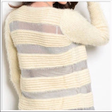Load image into Gallery viewer, Elaine Off at 5: Furry Silver Mesh Sweater Blazer - callielives