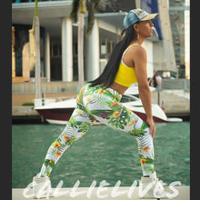 Load image into Gallery viewer, Callie Leaf Me Alone: Leggings 3D Leaves Graphics - callielives