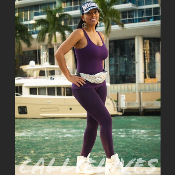 SEAMLESS Purple WorkOut LEGGING Set - callielives