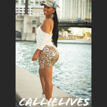 Load image into Gallery viewer, Stasia Tamed LEOPARD: Vegan LEATHER MINI SKIRT - callielives