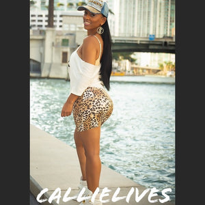 Stasia Tamed LEOPARD: Vegan LEATHER MINI SKIRT - callielives