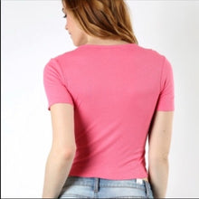 Load image into Gallery viewer, Hot Pink RIBBED Crop Top - callielives