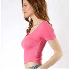 Load image into Gallery viewer, Hot Pink RIBBED Crop Top