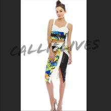 Load image into Gallery viewer, Floral Mixed Black Vinyl Skirt Set - callielives