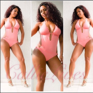 Callie Pink Blush Monokini Swimsuit - callielives
