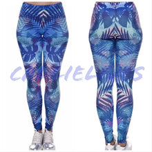 Load image into Gallery viewer, Callie Blue Tropic: Digital Print Graphic Leggings - callielives