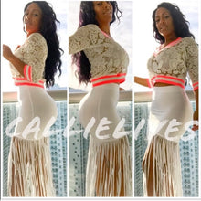 Load image into Gallery viewer, Stasia Maxi: Super Sexy Bandage Maxi Skirt Fringe - callielives