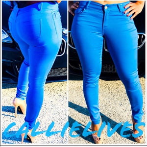 Callie Blue: Stretch Twill Skinny Pants - callielives