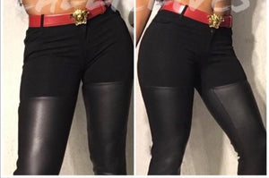Xena Vegan: Black Faux XS Leather Pants Booty Lift - callielives
