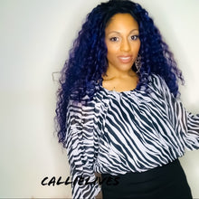 Load image into Gallery viewer, Elaine the Wild: Zebra Print Boatneck Work Blouse - callielives