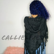 Load image into Gallery viewer, Callie Knit: Angel Cape Styled Crochet Sweater