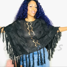Load image into Gallery viewer, Callie Knit: Angel Cape Styled Crochet Sweater - callielives